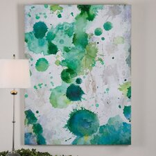 Spots of Emerald Modern Wall Art