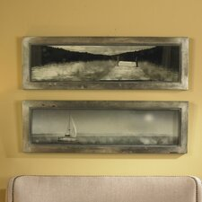 2 Piece Twilight Sail Framed Wall Art Set