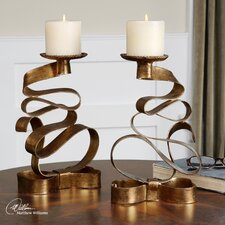 Pazia Metal Candlestick (Set of 2)