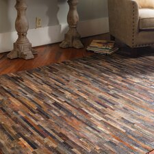 Malone Rust Brown Patchwork Rug