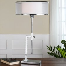 "Duarte 21"" H Table Lamp with Drum Shade"