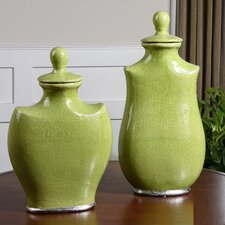 2 Piece Irwyn Decorative Urn Set