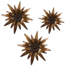3 Piece Gazanias Wall Décor Set