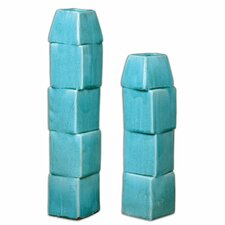 Nilima Ceramic Vase 2 Piece Set