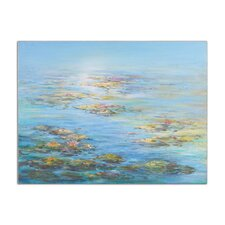 Floating Water Lillies Original Painting on Canvas