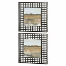 """""""Pastoral"""" by Grace Feyock 2 Piece Framed Prints of Paintings Set"""