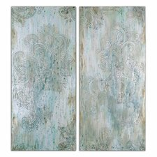 """""""Hint of Paisley"""" by Grace Heyock 2 Piece Original Paintings on Canvas Set"""