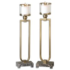 Moriah Metal Candlestick (Set of 2)