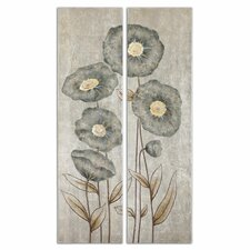 """""""Graceful Flowers"""" by Grace Feyock 2 Piece Original Paintings on Canvas Set"""