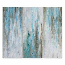 """""""Smokey"""" by Grace Feyock Three Piece Original Paintings on Canvas Set"""