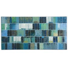 Glass Tiles Original Painting on Canvas