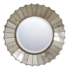 <strong>Uttermost</strong> Amberlyn Round Mirror in Antique Gold Leaf