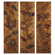 Climbing Vine Panels by Grace Feyock 3 Piece Original Painting on Canvas Set