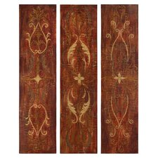 Elegant Panels Wall Art in Antique Glaze (Set of 3)