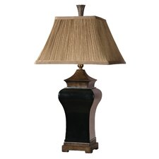 "Delmar 34"" H Table Lamp with Square Shade"
