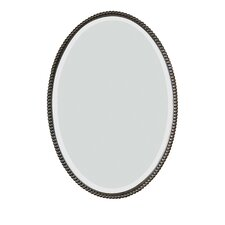 <strong>Uttermost</strong> Sherise Beaded Oval Mirror in Distressed Bronze