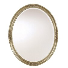 Newport Oval Mirror in Silver Leaf