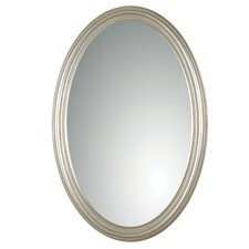 Franklin Oval Mirror in Antique Silver Leaf