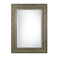 Hallmar Beveled Mirror in Silver Leaf