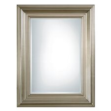 <strong>Uttermost</strong> Mario Rectangular Beveled Mirror in Silver Leaf