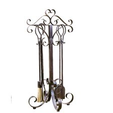 <strong>Uttermost</strong> Daymeion 4 Piece Metal Fireplace Tool Set