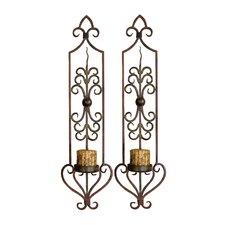 Privas Candle Wall Sconce (Set of 2)