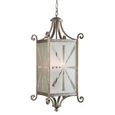 Lyon  Hanging Lantern in Warm Silver