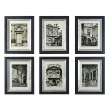 Paris Scene I, II, III, IV, V, VI by Grace Feyock 6 Piece Painting Print on Shadow Box Set