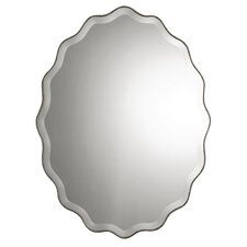 Teodora Wall Mirror in Antiqued Silver