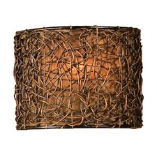 Woven Rattan 1 Light Naturals Knotted Wall Sconce