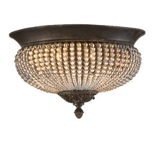 Cristal de Lisbon 2 Light Flush Mount