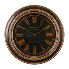 Buckley Clock in Distressed Black