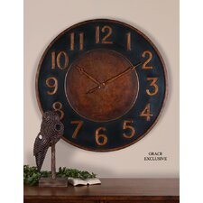 Matera Clock in Golden Bronze