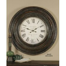 Trudy Clock in Distressed Burnished Brown