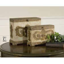Scotty Box in Aged Ivory (Set of 2)