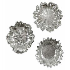 <strong>Uttermost</strong> 3 Piece Flowers Wall Décor Set