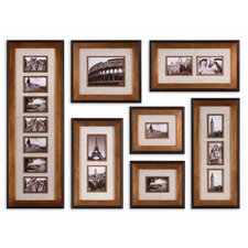 Newark Photo Collage by Grace Feyock 7 Piece Framed Photographic Print Set in Antiqued Gold