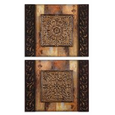 2 Piece Ornamentation Block I and II Wall Décor Set