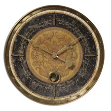 "Leonardo 18"" Script Weathered Wall Clock"