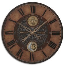 "<strong>Uttermost</strong> 23"" Simpson Starkey Weathered Wall Clock"