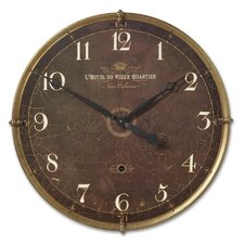 "Oversized 30"" Hotel Du Vieux Quartier Wall Clock"