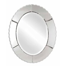 Evana Frameless Oval Mirror