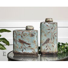 <strong>Uttermost</strong> Freya Two Piece Container in Crackled Sky Blue