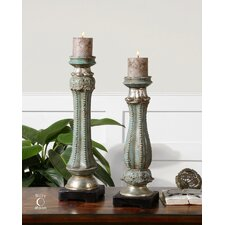 Deniz Ceramic Candlesticks (Set of 2)