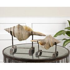 Two Piece Conch Shell Sculpture