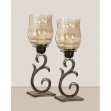 Sorel Iron and Glass Hurricane (Set of 2)