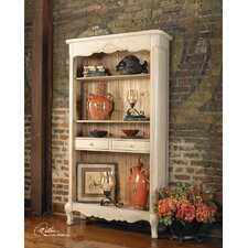 Sylvianne Tall Hutch in Soft Beige