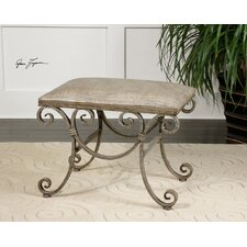 <strong>Uttermost</strong> Leontina Metal Bench