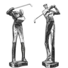 2 Piece Practice Shot Decorative Figurine Set
