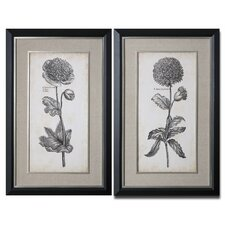 <strong>Uttermost</strong> 2 Piece Singular Beauty Floral Wall Art Set